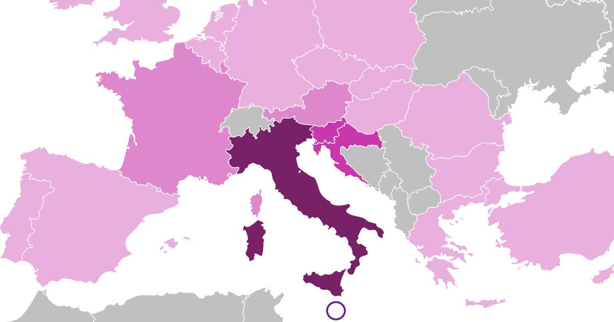 Diffusione della lingua italiana in Europa