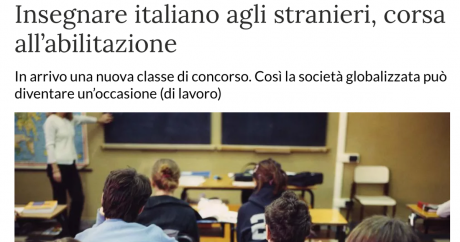 Abilitazione per insegnare italiano a stranieri