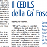 Certificazione Cedils presentata dal Prof. Paolo E. Balboni