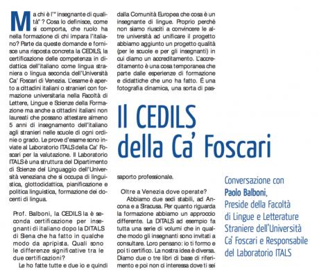 La certificazione Cedils Venezia. Intervista al Prof. Paolo Balboni.