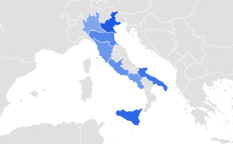 cedils in Italia