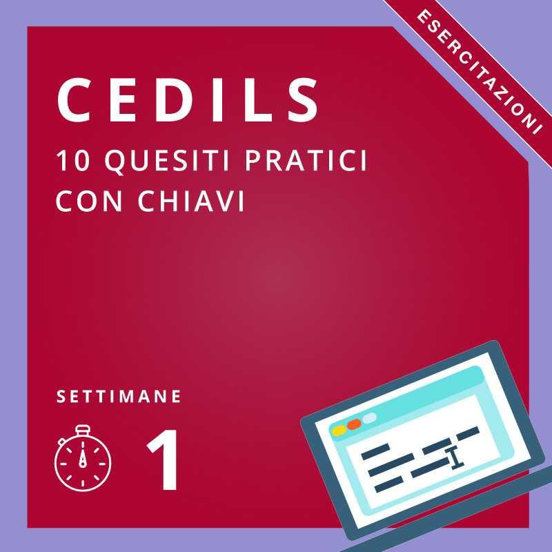 Esercitazioni Cedils Basic