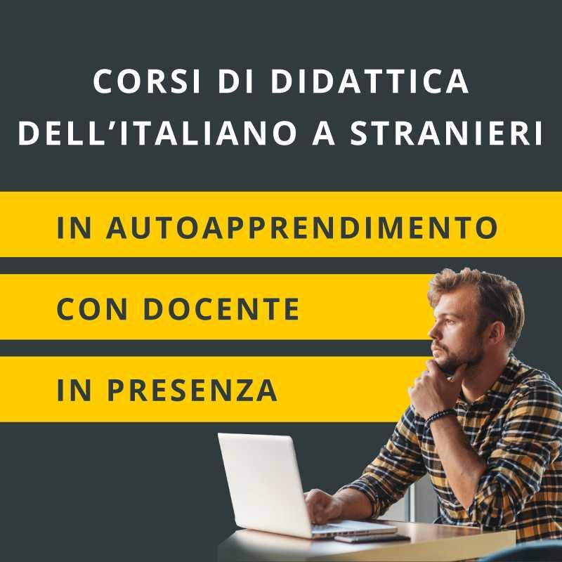 corsi di didattica dell'italiano a stranieri online e in presenza