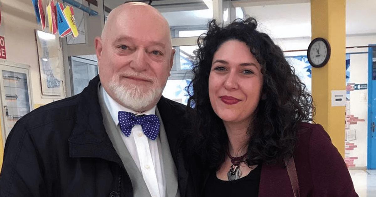 La Prof.ssa Piera De Gironimo con il Prof. Paolo E. Balboni