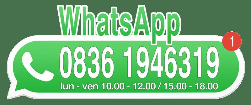 Chiamaci al numero +3908361946319, anche su WhatsApp, dal lunedì al venerdì dalle 10.00 alle 12.00 e dalle 15.00 alle 18.00