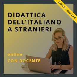 corso online di didattica dell'italiano a stranieri con docente
