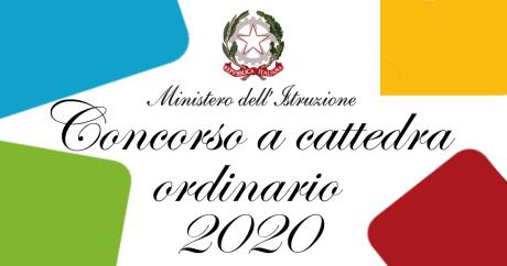 concorso a cattedra ordinario 2020