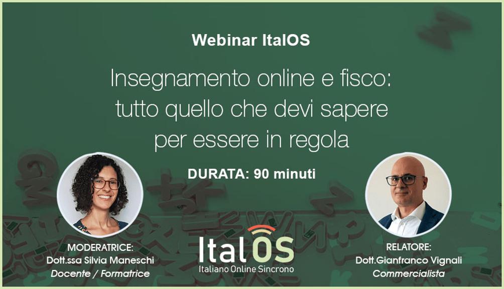 insegnare italiano L2 online: mettersi in regola con il fisco