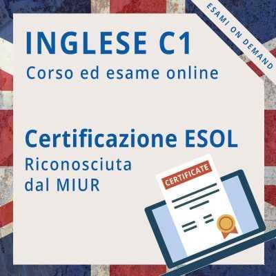 Certificazione di inglese c1 online ESOL expert