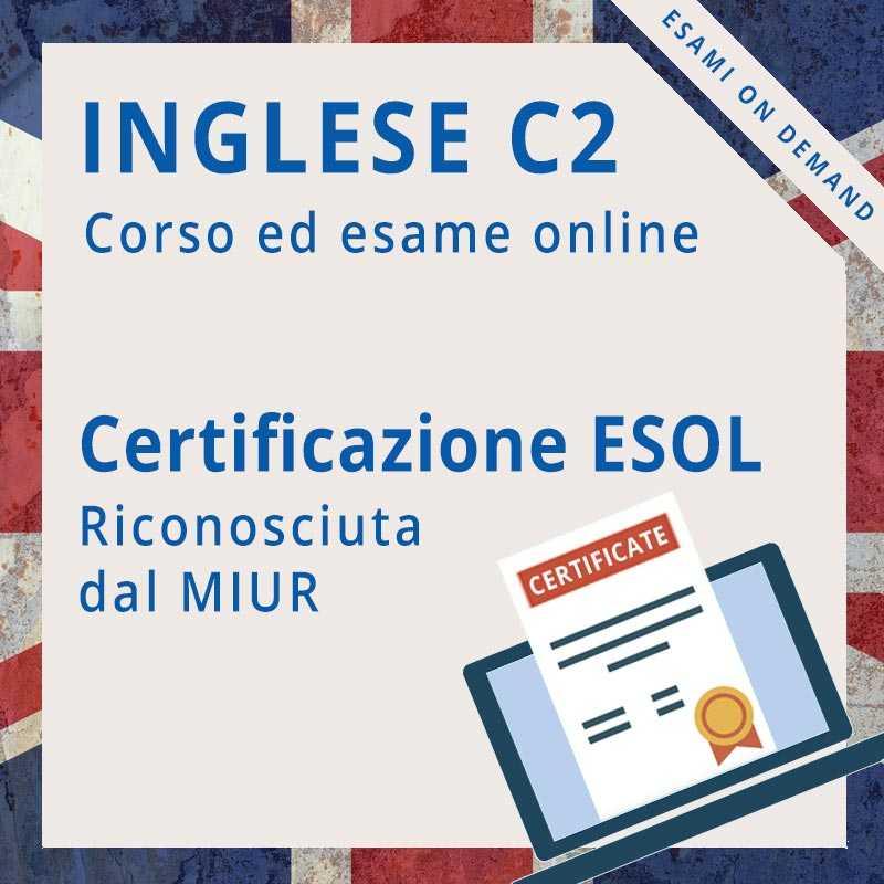 Certificazione di inglese c1 online ESOL mastery